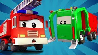 Авто Патруль -  Автомобильный патруль и мусоровоз - Автомобильный Город
