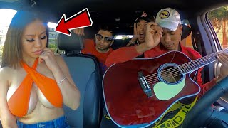 Famous Model Goes Crazy For Singing Uber Driver!