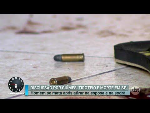 Homem atira na esposa e na sogra antes de cometer suicídio | Primeiro Impacto (12/04/18)