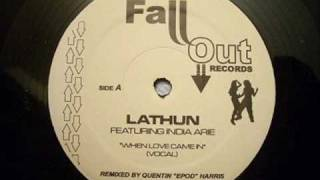 Lathun feat. India Arie - When Love Came In (Quentin Harris Vocal)