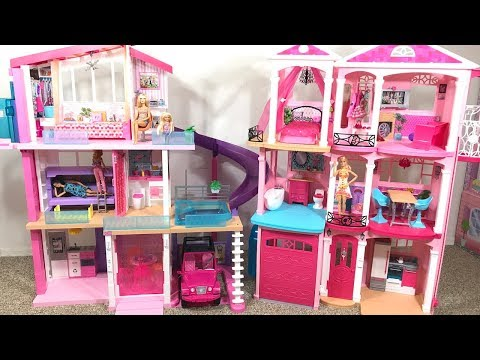 Barbie Dream House! Pink! Old house vs. New house!