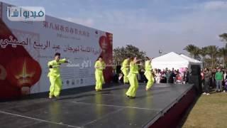 بالفيديو : عروض صينية في احتفالات عيد الربيع الصيني بحديقة الأزهر