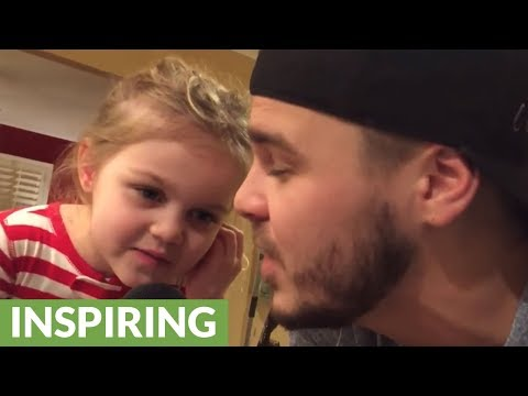 5-year-old girl sings beautifully in daddy-daughter duet