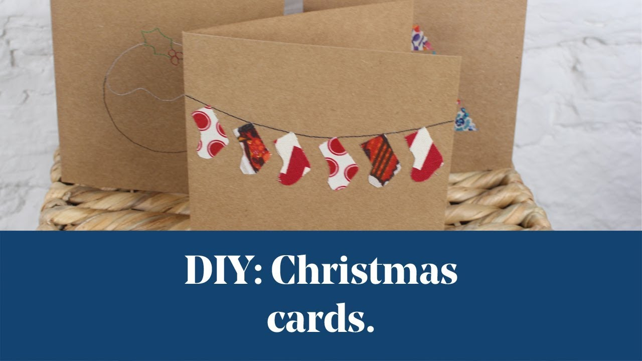 DIY Sewing Machine Christmas Cards YouTube