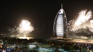 Burj Al Arab New Year's Fireworks 2014