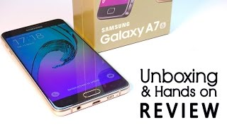 Samsung Galaxy A7 2016 Unboxing & Hands on Review | Over-priced?