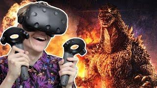 GODZILLA SIMULATOR IN VIRTUAL REALITY! | Monster Awakens VR (HTC Vive Gameplay)