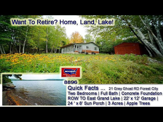 Maine Real Estate | 21 Grey Ghost RD Foresty City ME MOOERS REALTY #8896