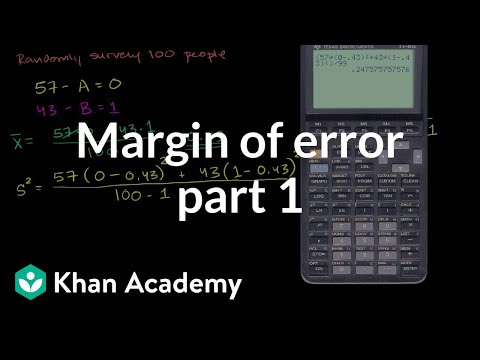 Margin of error 1 | Inferential statistics | Probability and Statistics | Khan Academy