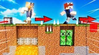 NAJLEPSZE TROLL PUŁAPKI W MINECRAFT! 😂 VITO VS BELLA (Minecraft Death Run)