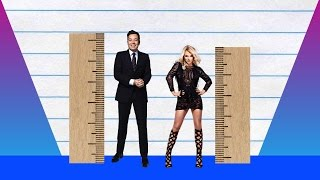 How Much Taller? - Jimmy Fallon vs Britney Spears!