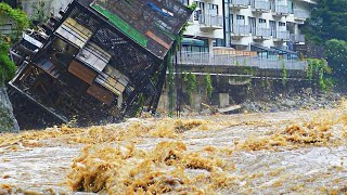 India is sinking! Severe flood destroys buildings in Kerala