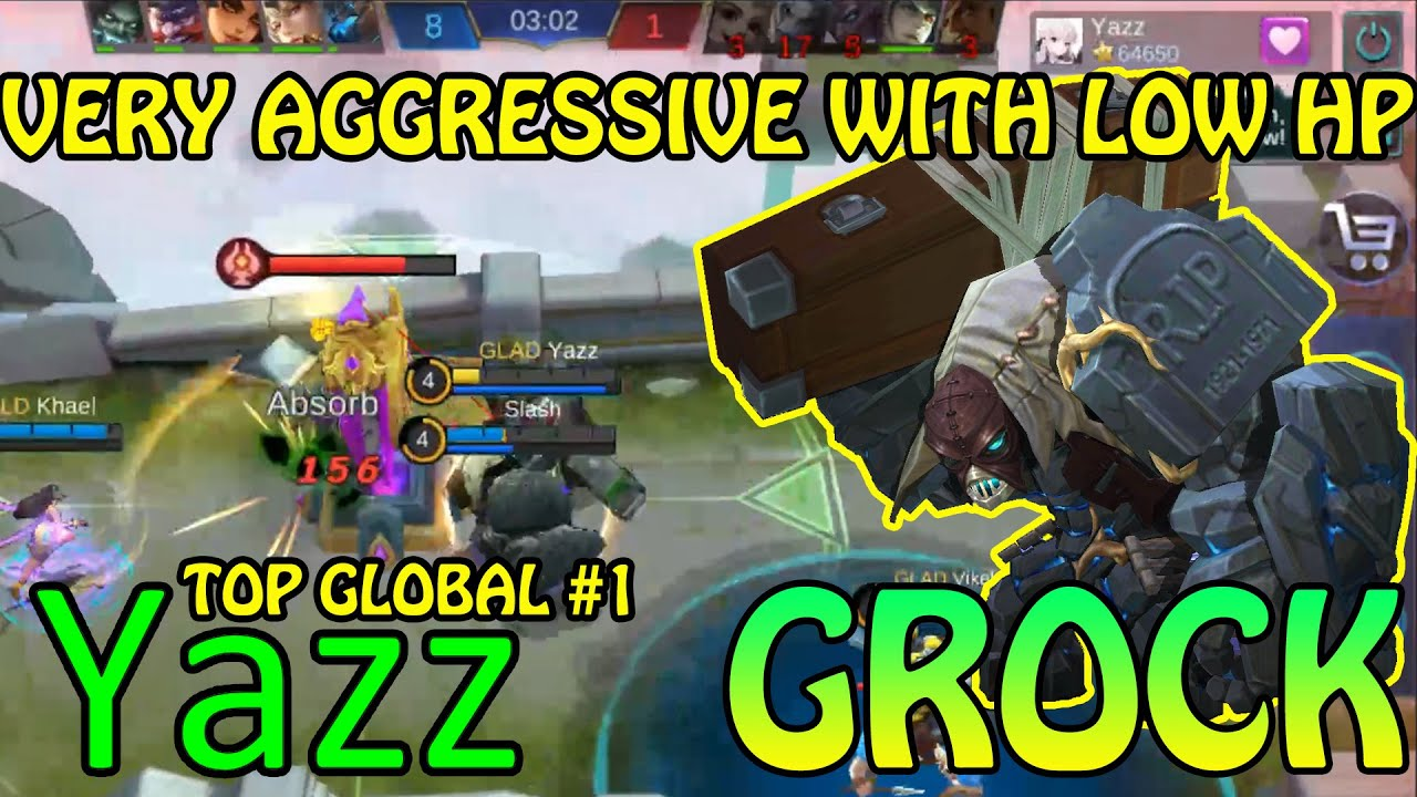 Top Global Grock 1 Aggressive Gameplay Easy Win By 1 Yazz