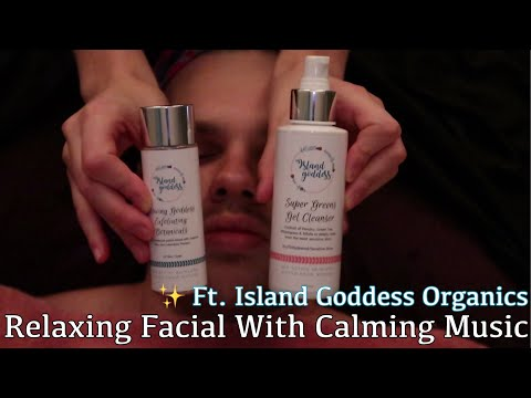 Relaxing Facial Treatment With Calming Music (Natural & Organic Skin Care)