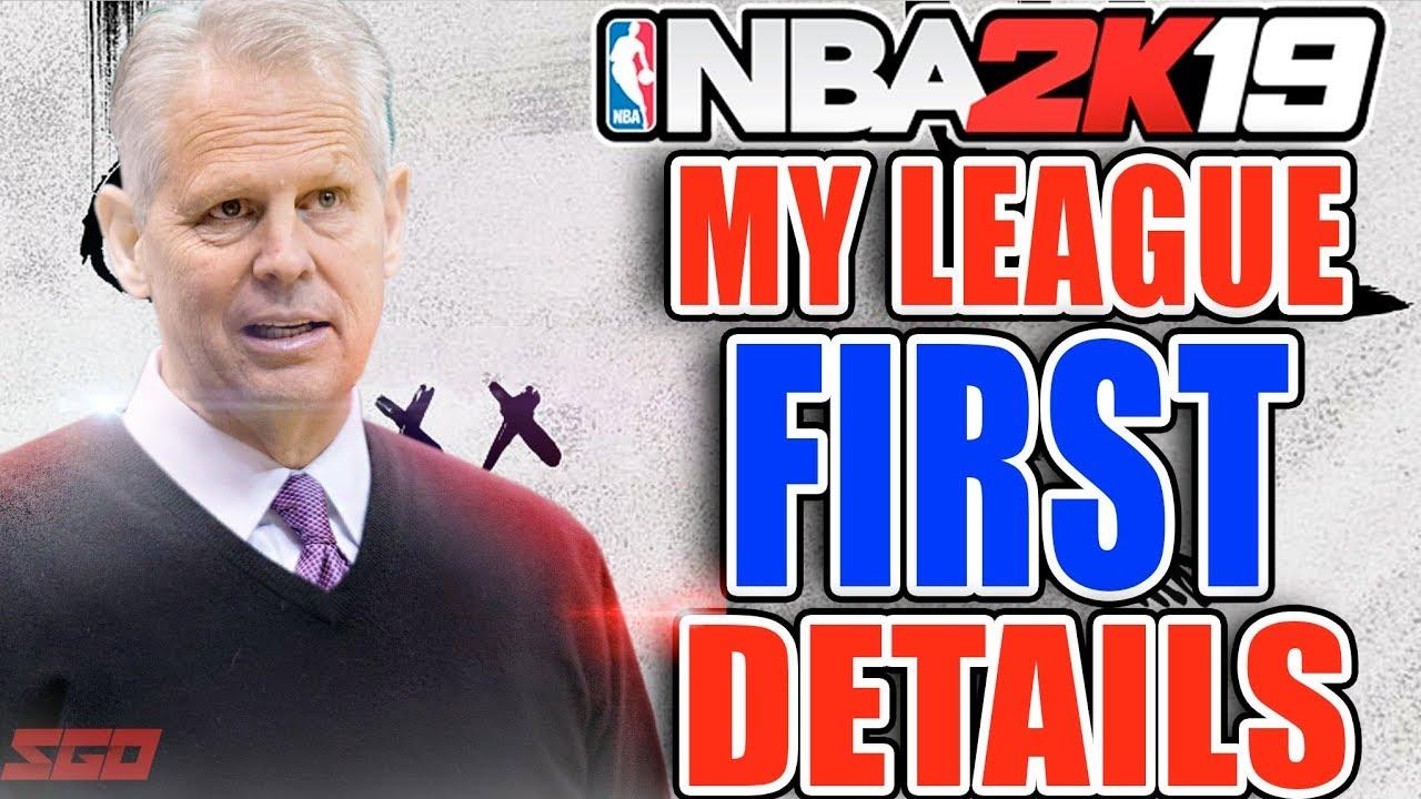 NBA 2K19 MYLEAGUE First Details!