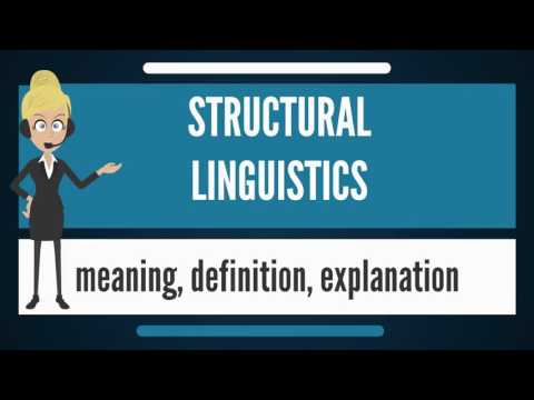 What is STRUCTURAL LINGUISTICS? What does STRUCTURAL LINGUISTICS mean?