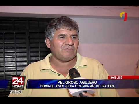 San Luis: mujer quedó atrapada en agujero por más de 1 hora