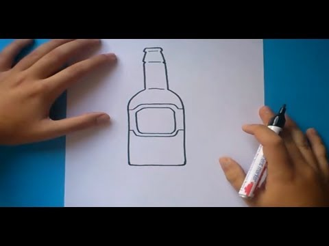 Como dibujar una botella paso a paso  How to draw a bottle  YouTube