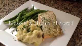 Baked Salmon With Dill And Lemon Dressing