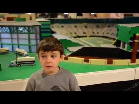 LEGO Replica of Green Bay Packers football stadium - Lambeau Field