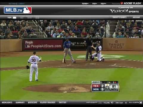 JB - Helping a Fan on ESPN - Rangers vs. Twins 5/30/2010