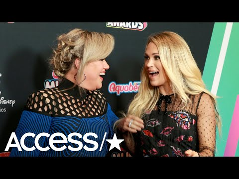 Kelly Clarkson Hilariously Shuts Down Rumors Of A Feud With Carrie Underwood | Access