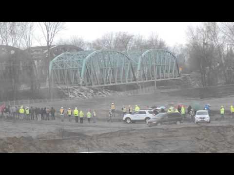 RT 36 BRIDGE DEMO AT GNADENHUTTEN, OHIO