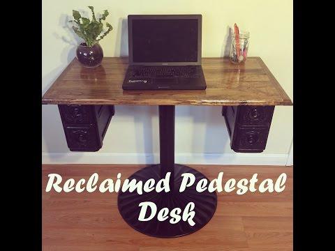 Reclaimed Pedestal Desk
