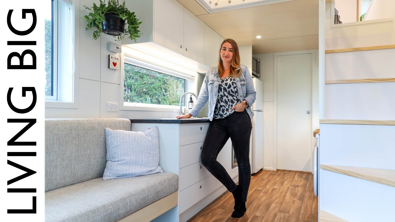 Epic Modern Tiny House With Library Net Loft