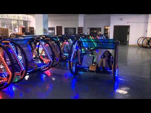 Crazy amusement park ride, happy Go Kart, travelling car, Electronic Balance Swing Car