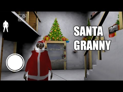 Santa Granny - 5 funny moments in Granny The Horror Game    Experiments with Granny
