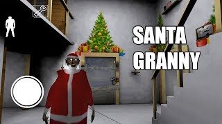 Santa Granny - 5 funny moments in Granny The Horror Game || Experiments with Granny