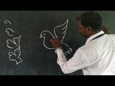 9th Drawing.. How To Draw Flying Dove..