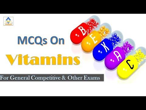 MCQs On Vitamin