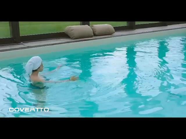 Cubiertas de piscina COVERTTO en la isla de Cerdeña