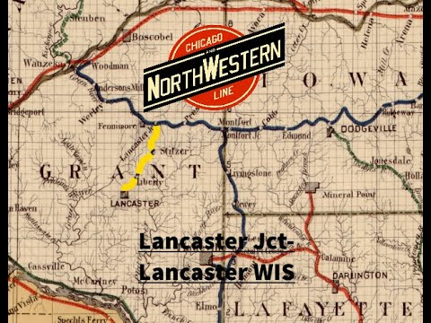 Lancaster Junction to Lancaster, Wisconsin 1937 1940 Chicago & North Western Railway