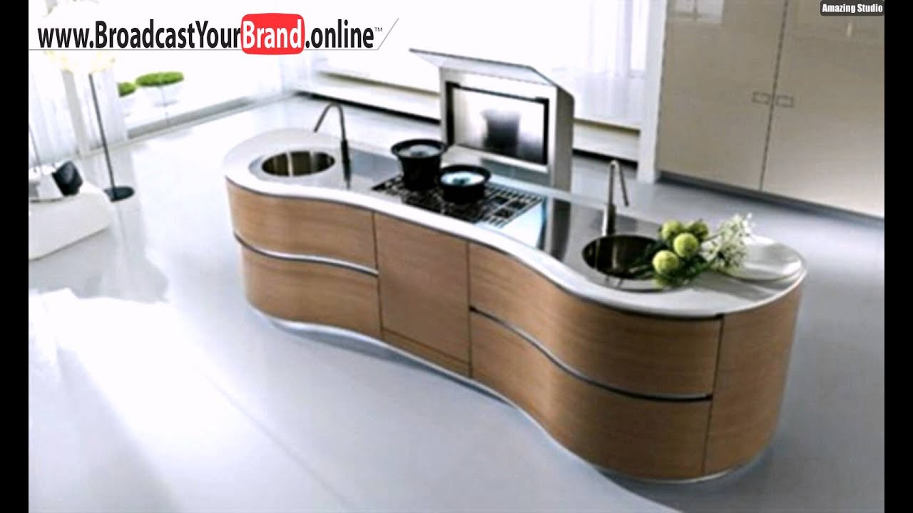 runde k cheninsel holz k chenschrank youtube. Black Bedroom Furniture Sets. Home Design Ideas
