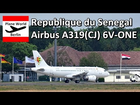 Republique du Senegal Airbus A319(CJ) *6V-ONE* in Berlin TXL