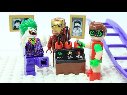 Lego Iron man and Robin Brick Building Robot Joker Funny Superhero Cartoon