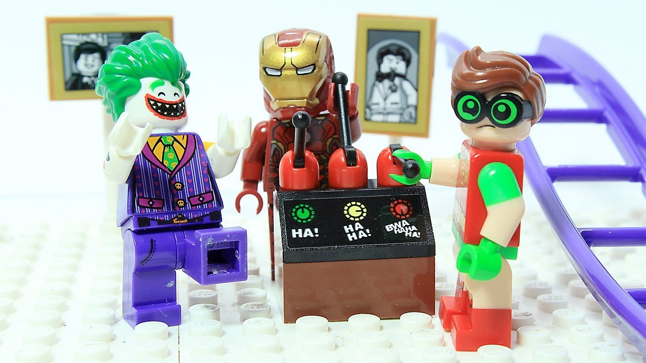 Lego Iron Man And Robin Brick Building Robot Joker Funny Superhero