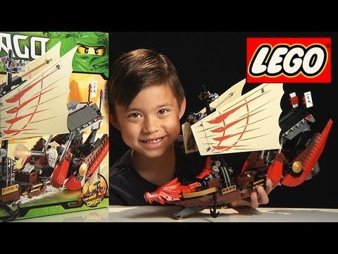 DESTINY'S BOUNTY - Lego NINJAGO Set 9446 - Time-lapse/Stop Motion Build, Unboxing & Review