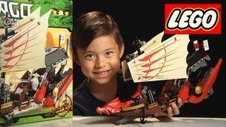 DESTINY'S BOUNTY - Lego NINJAGO Set 9446 - Time-lapse/Stop Motion Build, Unboxing & Review