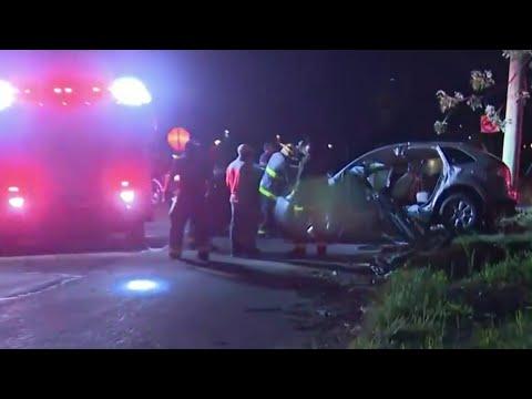 Police chase ends in violent crash in Detroit