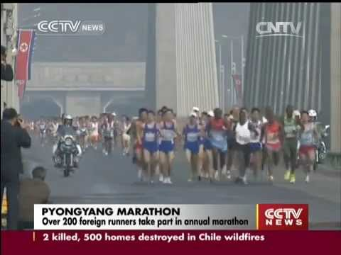 Over 200 foreign runners take part in Pyongyang Marathon