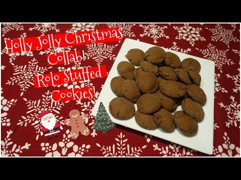 Holly Jolly Christmas Collab! | Bake With Me | Rolo Stuffed Cookies!
