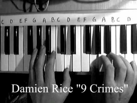 damien rice 9 crimes - piano learning how to play it  (live abbey road 2006)