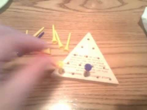 Pattern For The Golf Tee Triangle Game Usually Seen At Cracker