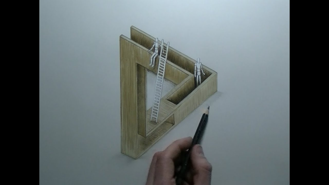 Drawing optical illusion illustration impossible for Architecture impossible