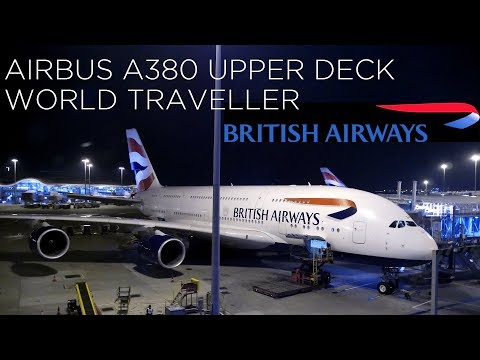 British Airways BA32 Airbus A380 Upper Deck World Traveller vlog (Hong Kong to London Heathrow)