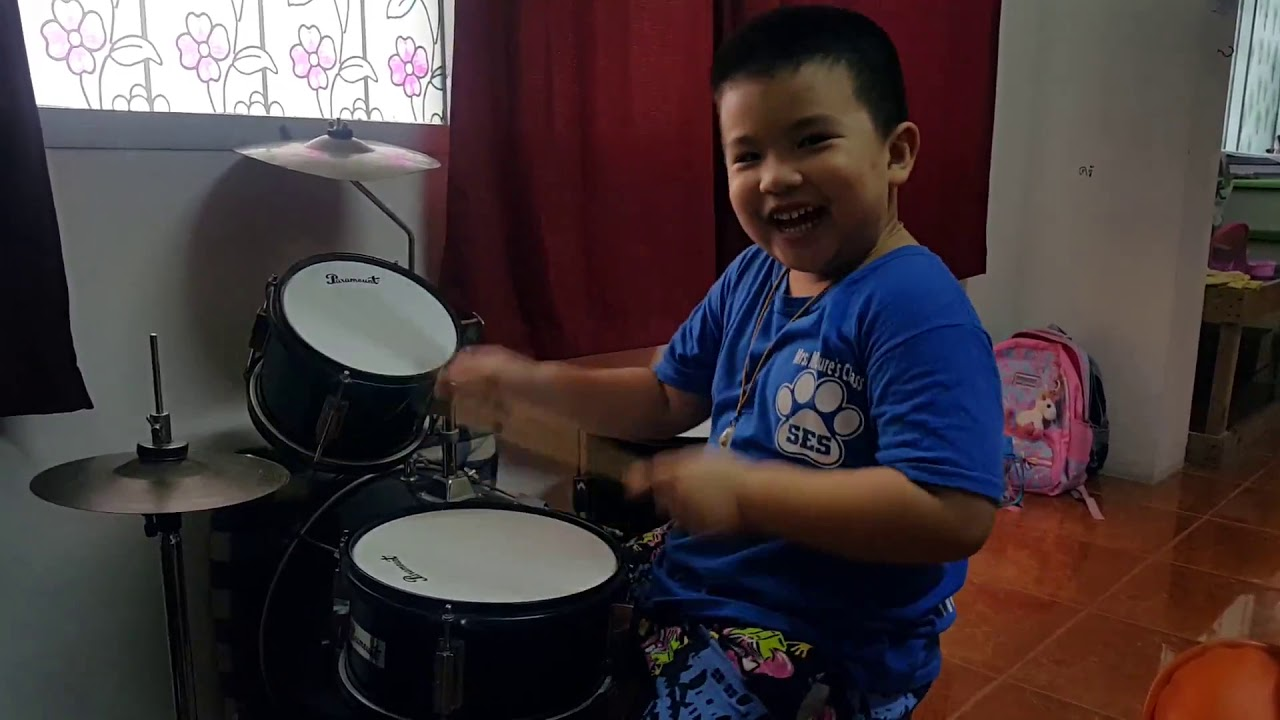 test Clip Cover Drum Back In Black (Triratt Age 5 )